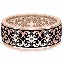 Мужское обручальное кольцо из розового золота Калейдоскоп Любви: В ожидании Чуда