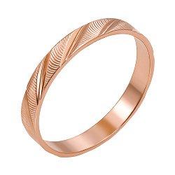 Золотое обручальное кольцо с алмазной гранью Валери