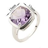 Серебряное кольцо Марица с аметистом