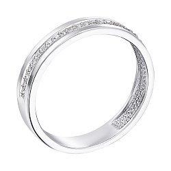 Кольцо из белого золота с бриллиантами 000103663