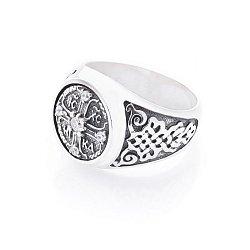 Серебряный перстень-печатка с чернением 000127691