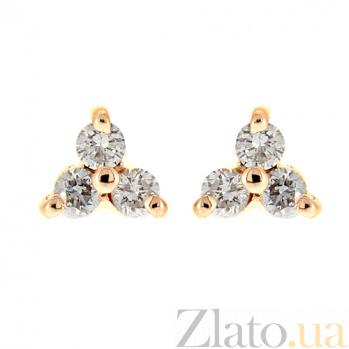 Золотые серьги с бриллиантами Хлоя 000022013