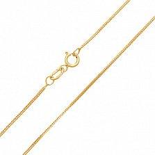 Цепочка из жёлтого золота Венеция, 1мм