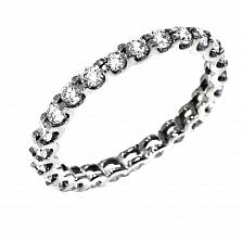 Кольцо из белого золота Модный веночек с бриллиантами