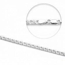 Серебряная цепочка Северное сияние с плетением бисмарк 3,5мм