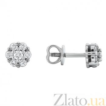 Золотые серьги с бриллиантами Августина EDM--С7476/1G