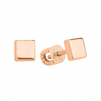 Золотые серьги-пуссеты в минималистичном стиле 000101577