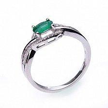 Золотое кольцо Эвристея с изумрудами и бриллиантами