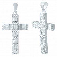 Серебряный крестик Сияние с фианитами