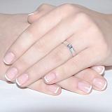 Кольцо из белого золота с бриллиантом Кали
