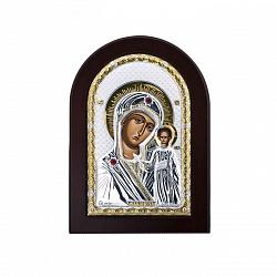 Икона Божьей Матери Казанская с красными фианитами 000014065