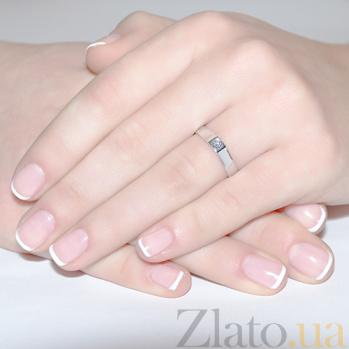 Кольцо из белого золота с бриллиантом Кали R 0647
