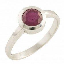 Серебряное кольцо Эрма с рубином