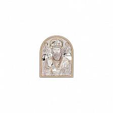 Икона серебряная с позолотой Николай Чудотворец