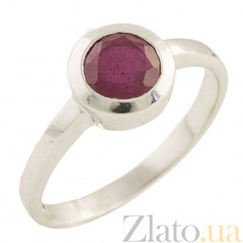 Серебряное кольцо Эрма с рубином 000055584