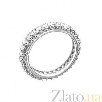 Кольцо в белом золоте Ливадия с бриллиантами 000079281