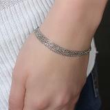Серебряный браслет Пирея