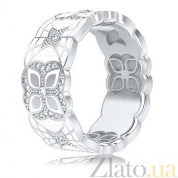 Обручальное кольцо из белого золота Калейдоскоп Любви: Увертюра к счастью 3353