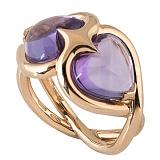 Кольцо Hausmann из розового золота с аметистами