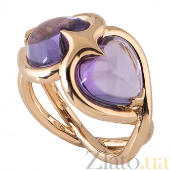 Кольцо Hausmann из розового золота с аметистами R-Hsm-R-2am