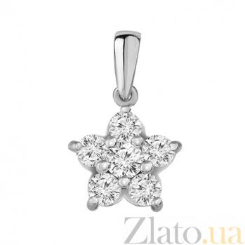 Золотой подвес с бриллиантами Звезда счастья P0488