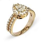 Золотое кольцо с бриллиантами Нариман