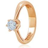 Золотое кольцо с кристаллом Swarovski Мой свет