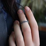 Серебряное кольцо на фалангу пальца Эхо