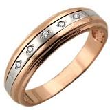 Золотое кольцо Свет любви с фианитами
