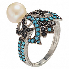 Серебряное кольцо Ночное рандеву Лоренсия