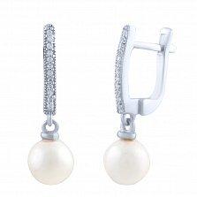 Серебряные серьги Грациана с фианитами