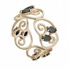 Кольцо в красном золоте Виолетта с фианитами