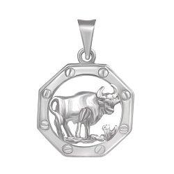 Серебряная подвеска Знак Зодиака Телец 000039649