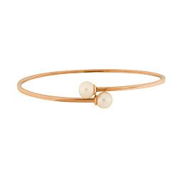 Литой браслет из красного золота с жемчугом 000004857
