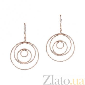 Золотые серьги с бриллиантами Кловер 1С033-0141