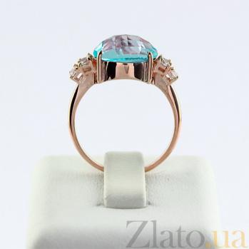 Золотое кольцо с топазом и фианитами Дэриа VLN--112-1524-1