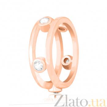 Серебряное кольцо Викки с фианитами и позолотой в стиле Тиффани 000078634