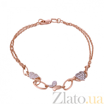 Золотой браслет с фианитами Партения ONX--б01284