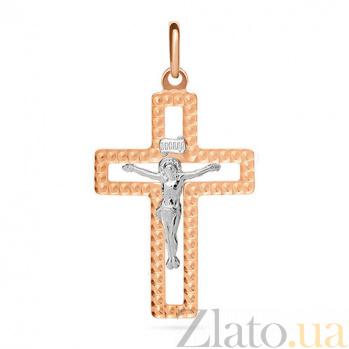 Золотой крестик Христос спаситель SUF--511181нрши