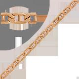 Золотая цепь Валентино, 8мм