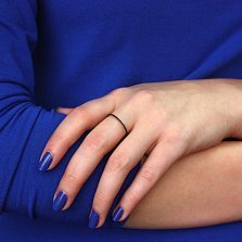 Кольцо из белого золота Анджелин с черными фианитами