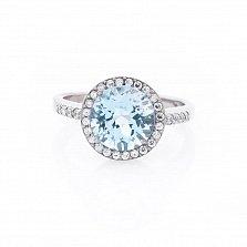 Серебряное кольцо Асия с топазом и фианитами