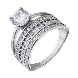 Серебряное кольцо с фианитами 000043162