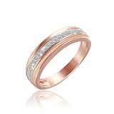 Серебряное кольцо Элли с позолотой и фианитами