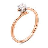 Кольцо золотое помолвочное Ивис с цирконием