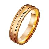Золотое обручальное кольцо Счастливый путь