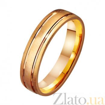 Золотое обручальное кольцо Счастливый путь TRF--411226