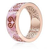 Обручальное кольцо из розового золота Талисман: Любви