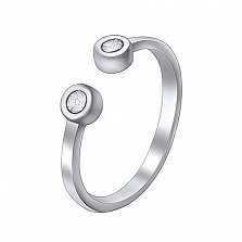 Серебряное кольцо на фалангу Лита с цирконием