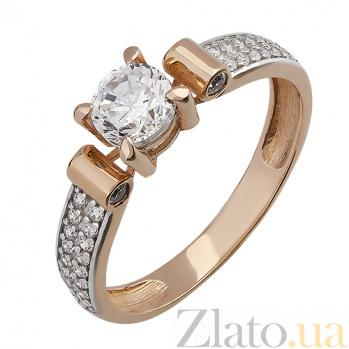 Золотое кольцо Анабель с фианитами 000015466